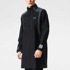 Adidas White Moutaineering Long Black Coat